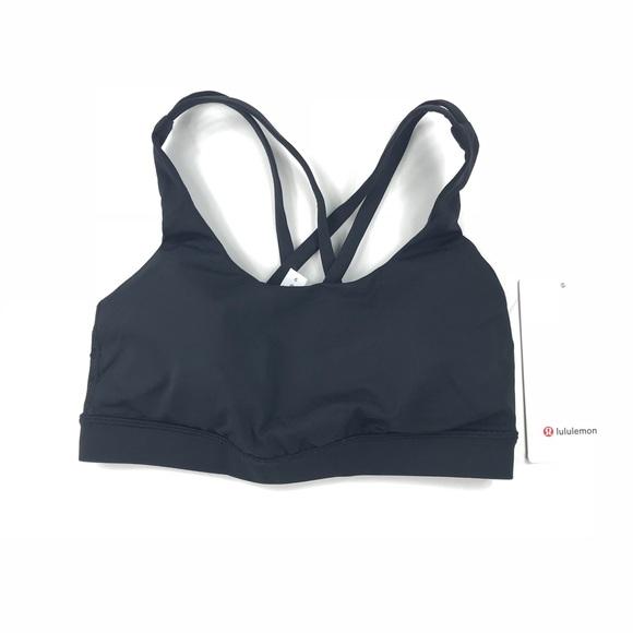 1ccb8fb98cbd Lululemon Energy Bra Black Sports Top Size 4. NWT. lululemon athletica